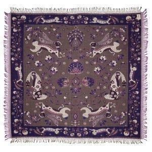 Klaus Haapaniemi Rabbit Peitto Violetti 200x180 Cm