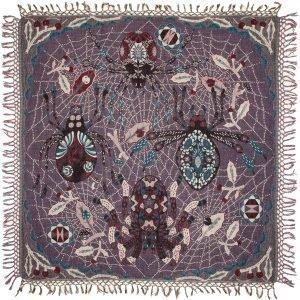 Klaus Haapaniemi Spider Peitto Violetti 120x120 Cm