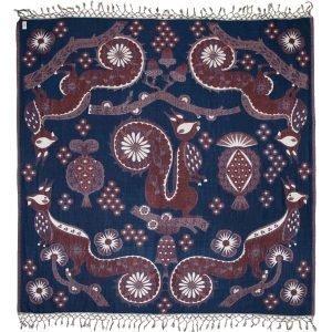 Klaus Haapaniemi Squirrel Peitto Sininen 150x150 Cm