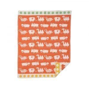 Klippan Yllefabrik Africa Puuvillaviltti Oranssi 70x90 Cm