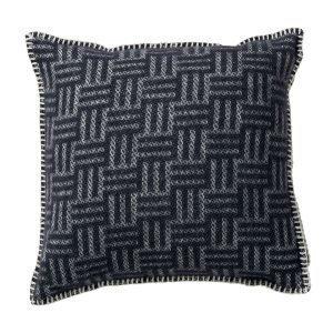 Klippan Yllefabrik Brick Tyynynpäällinen Tummanharmaa 45x45 Cm