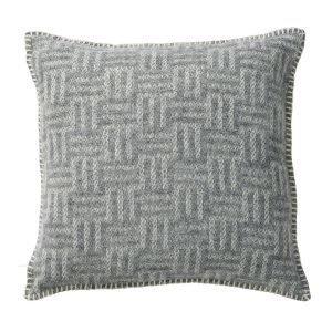 Klippan Yllefabrik Brick Tyynynpäällinen Vaaleanharmaa 45x45 Cm