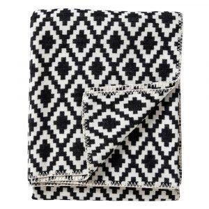 Klippan Yllefabrik Diamonds Huopa Musta 140x180 Cm