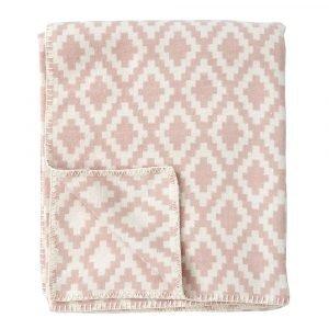 Klippan Yllefabrik Diamonds Huopa Pale Pink 140x180 Cm