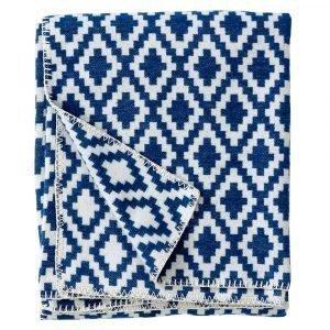 Klippan Yllefabrik Diamonds Huopa Royal Blue 140x180 Cm