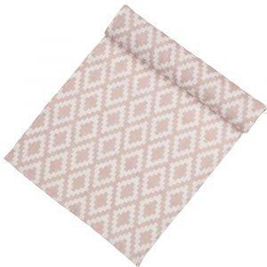 Klippan Yllefabrik Diamonds Kaitaliina Vaaleanpunainen 43x140 Cm