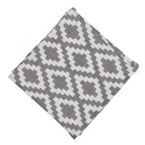 Klippan Yllefabrik Diamonds Servetti Harmaa 43x43 Cm