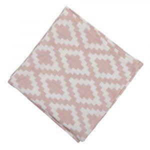 Klippan Yllefabrik Diamonds Servetti Vaaleanpunainen 43x43 Cm
