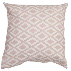 Klippan Yllefabrik Diamonds Tyynynpäällinen Vaaleanpunainen 50x50 Cm