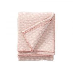 Klippan Yllefabrik Domino Villahuopa Vaaleanpunainen 130x180 Cm