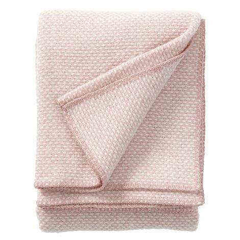 Klippan Yllefabrik Domino Villahuopa Vaaleanpunainen
