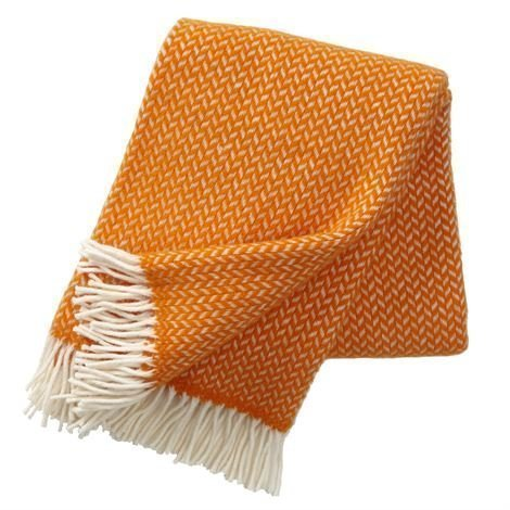 Klippan Yllefabrik Polka Villahuopa Oranssi