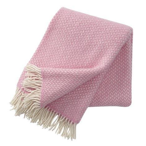 Klippan Yllefabrik Polka Villahuopa Vaaleanpunainen