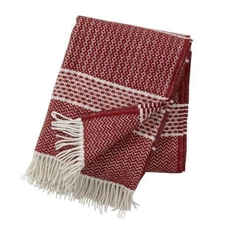 Klippan Yllefabrik Quilt Villahuopa Tiibetinpunainen