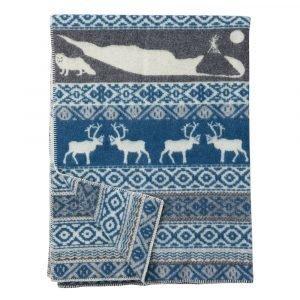 Klippan Yllefabrik Sarek Villaviltti Harmaa / Sininen 130x180 Cm
