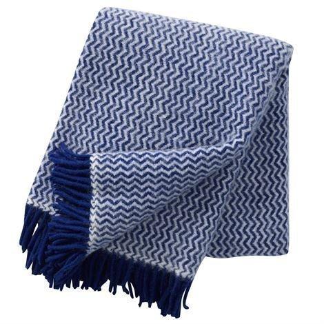 Klippan Yllefabrik Tango Villahuopa Sininen-Valkoinen