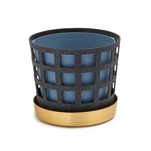 Klong Trio Pot Ruukku Pieni Square Sininen
