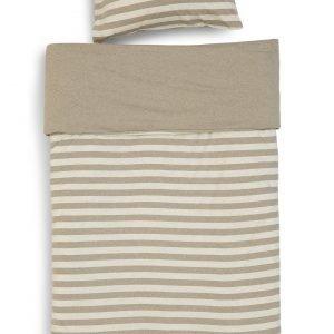 Koodi Stripe Trikoopussilakanasetti 150x210 + 50x60 Cm