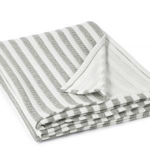 Koodi Stripe Trikootorkkupeite Valkoinen Harmaa