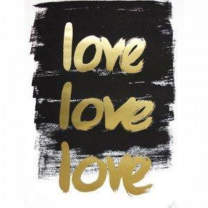 Kortkartellet Love Love Love Juliste A3 Monivärinen