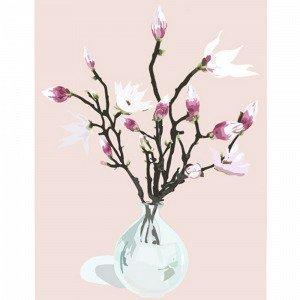 Kortkartellet Magnolia Dusty Rose Juliste A3 Roosa