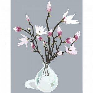 Kortkartellet Magnolia Grey Juliste A3 Harmaa