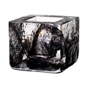 Kosta Boda Brick Kynttilälyhty musta Ø 8