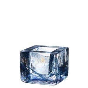 Kosta Boda Brick-votiivi sininen