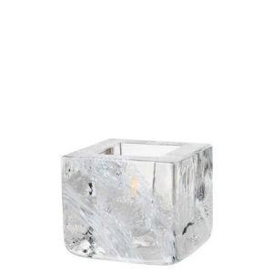 Kosta Boda Brick-votiivi valkoinen