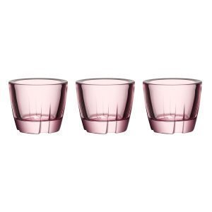 Kosta Boda Bruk Kynttilälyhty Pink 3-Pakkaus