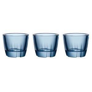 Kosta Boda Bruk Kynttilälyhty Water Blue 3-Pakkaus