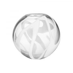 Kosta Boda Globe Maljakko Valkoinen