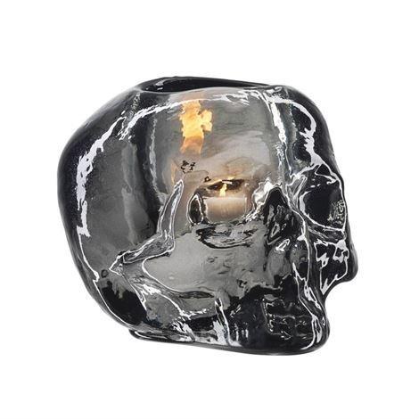 Kosta Boda Skull Kynttilälyhty Harmaa