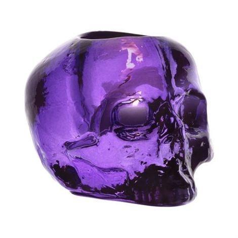 Kosta Boda Skull Kynttilälyhty Liila