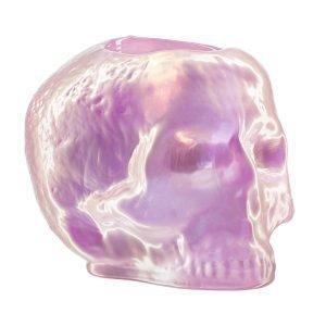 Kosta Boda Still Life Skull Kynttilälyhty Vaaleanpunainen
