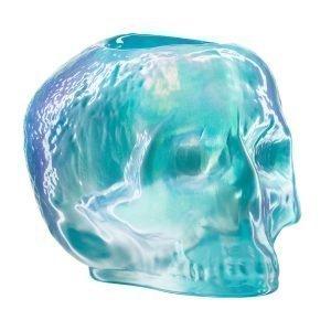 Kosta Boda Still Life Skull Kynttilälyhty Vaaleansininen