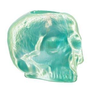Kosta Boda Still Life Skull Kynttilälyhty Vihreä