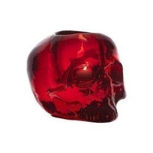 Kosta Boda Still Life Skull Punainen Kynttilälyhty Ø 11