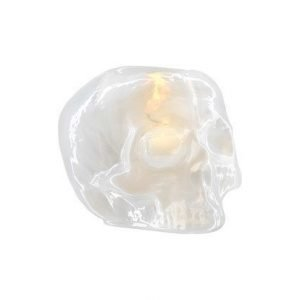 Kosta Boda Still Life Skull Valkoinen Kynttilälyhty