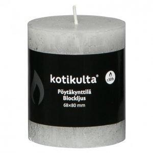 Kotikulta Rustic Pöytäkynttilä Vaaleanharmaa 80x68mm