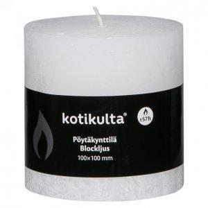 Kotikulta Rustic Pöytäkynttilä Valkoinen 100x100mm
