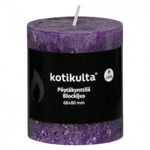 Kotikulta Rustic Pöytäkynttilä Violetti 68x80mm