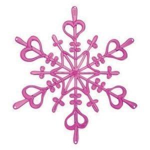 Koziol Flake L Ornament Tähti Vaaleanpunainen