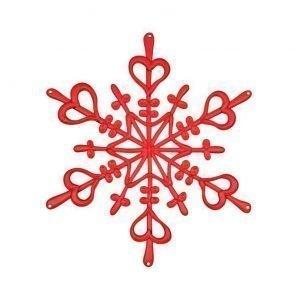 Koziol Flakes Xs Ornament Punainen 4-Pakkaus