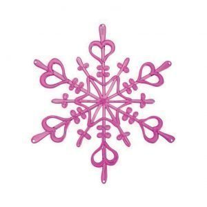 Koziol Flakes Xs Ornament Vaaleanpunainen 4-Pakkaus