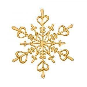 Koziol Ornament Lumihiutale Xs Kulta 4-Pakkaus