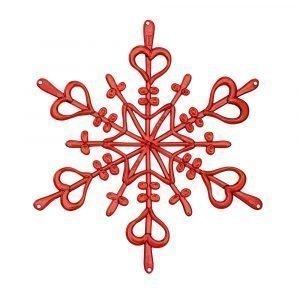 Koziol Ornament Lumihiutale Xs Punainen 4-Pakkaus