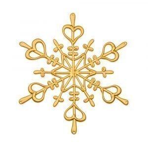 Koziol Star Ornament Lumihiutale L Kulta