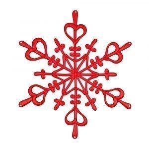 Koziol Star Ornament Lumihiutale L Punainen