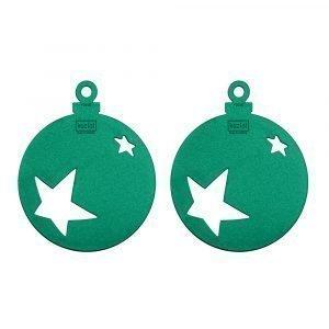 Koziol Stars Joulukoriste Pine 2-Pakkaus